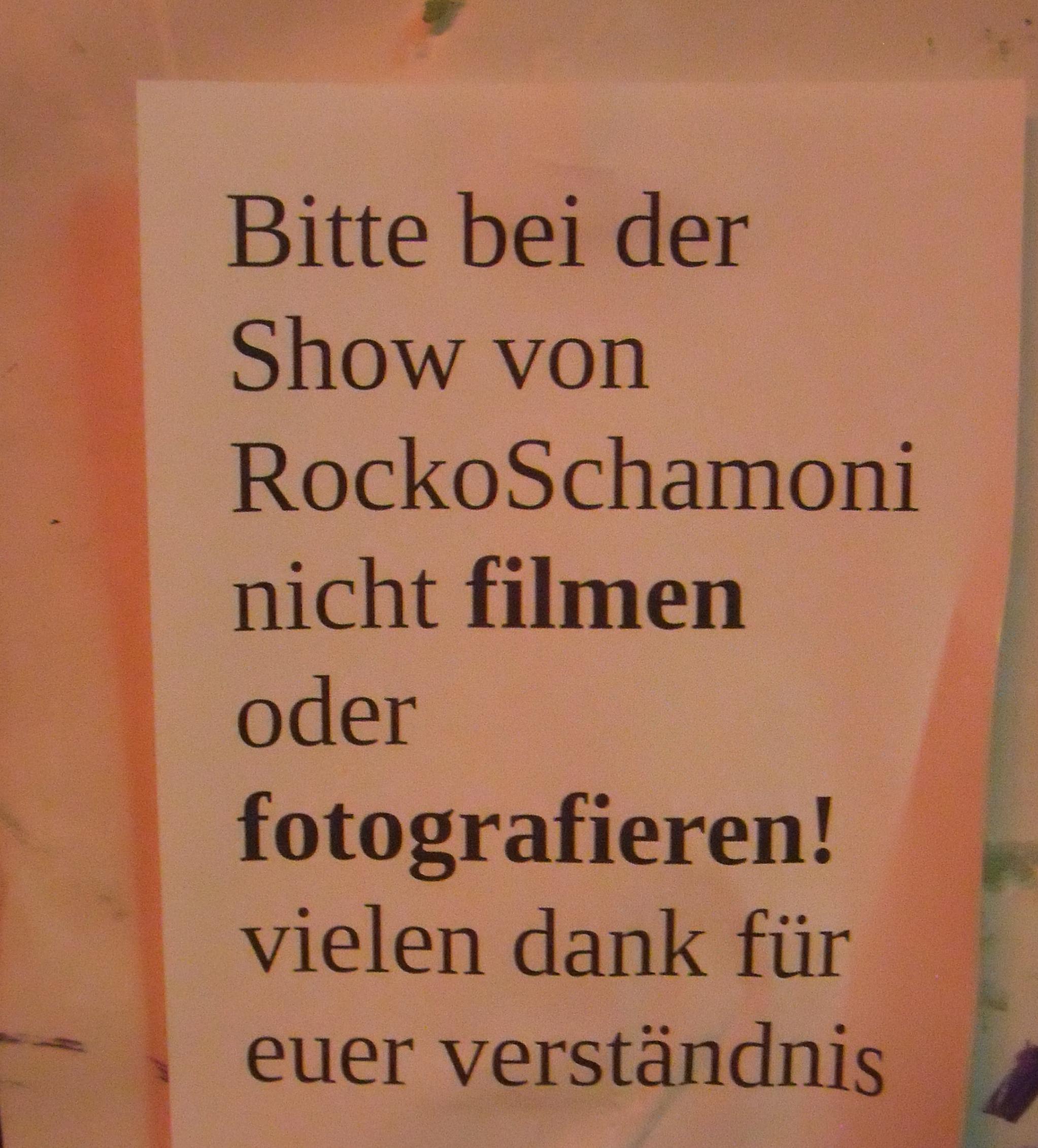 Rocko Schamoni live
