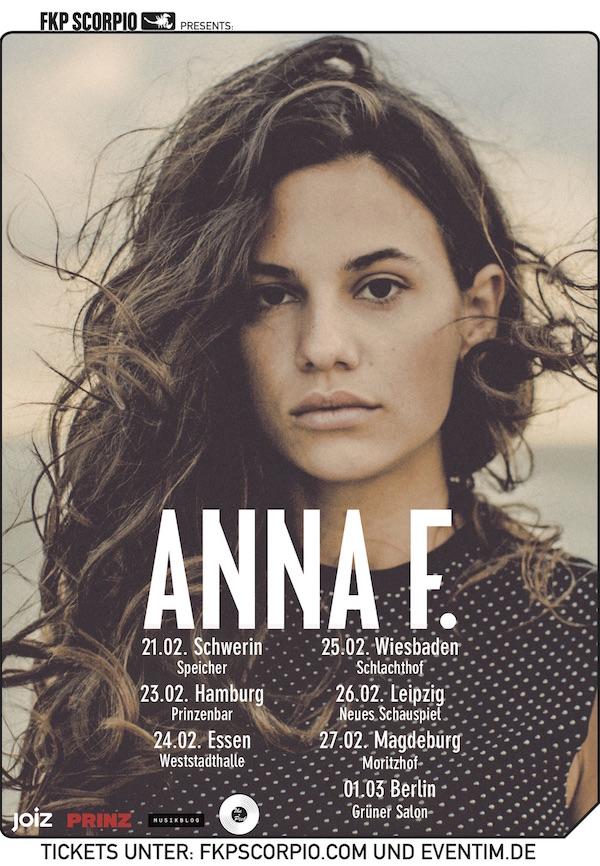 Anna F. (Tour-Poster, Credit FKP Scorpio)