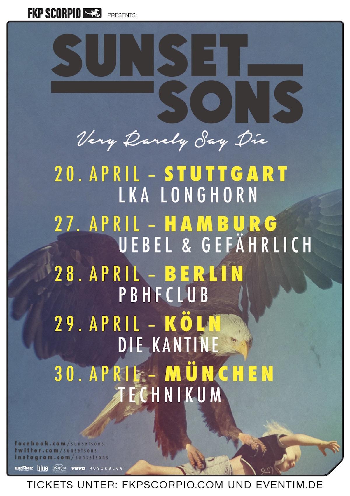 Sunset Sons (Tour Plakat)