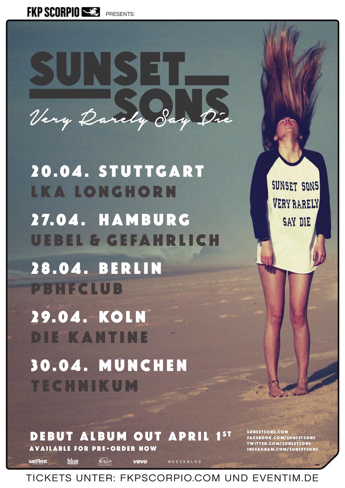 Sunset Sons (Tourposter)