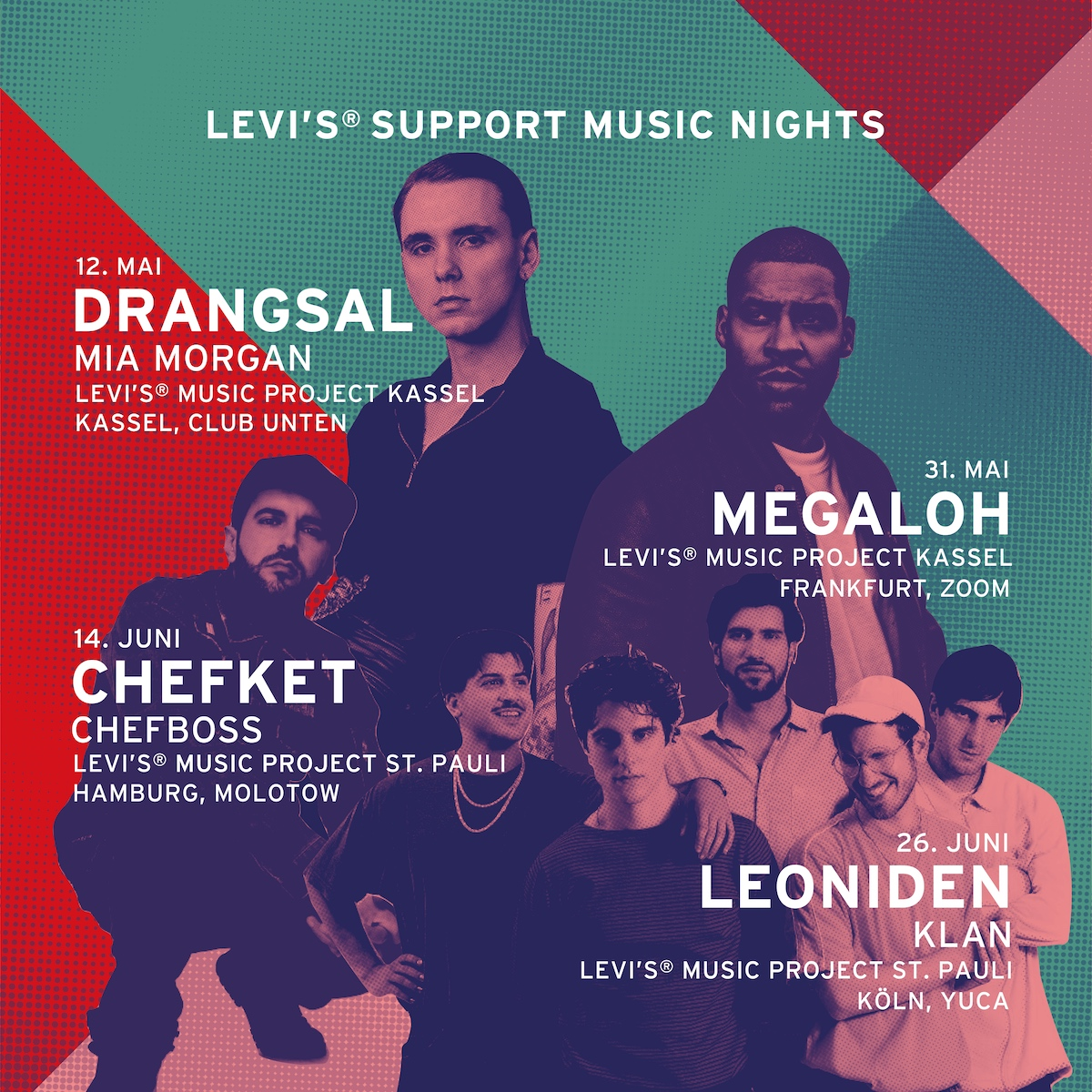 Levis Support Music Nights (Tourposter)