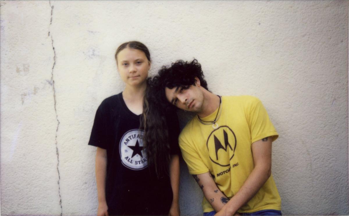 Matty Healy & Greta Thunberg (Credit Universal Music)