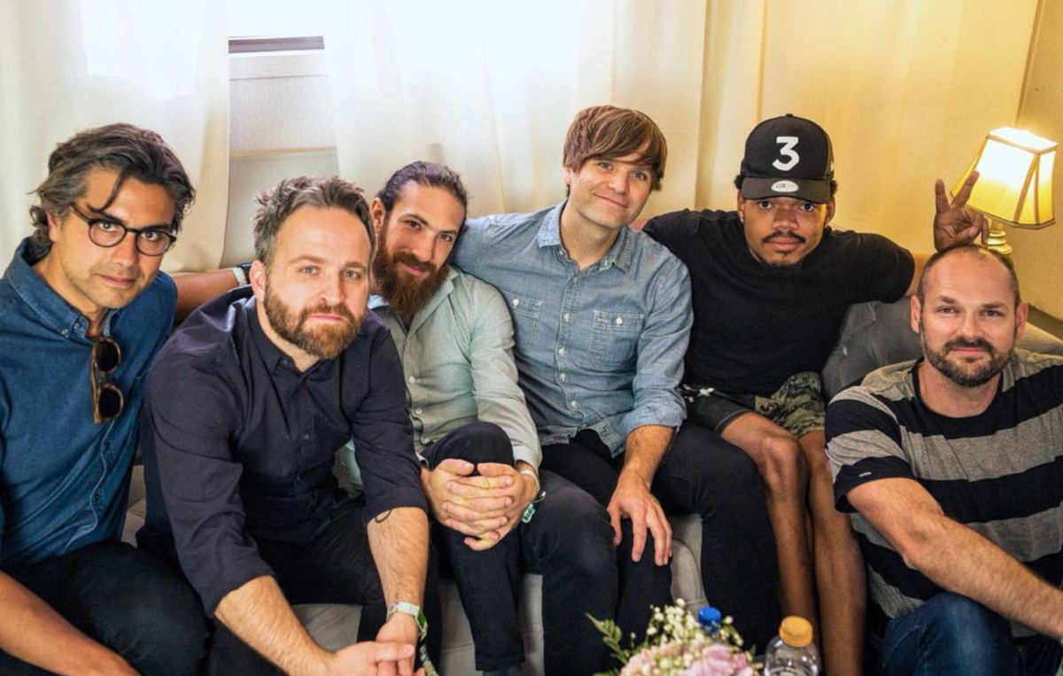 Death Cab For Cutie & Chance the Rapper (Credit DCFC Twitter)